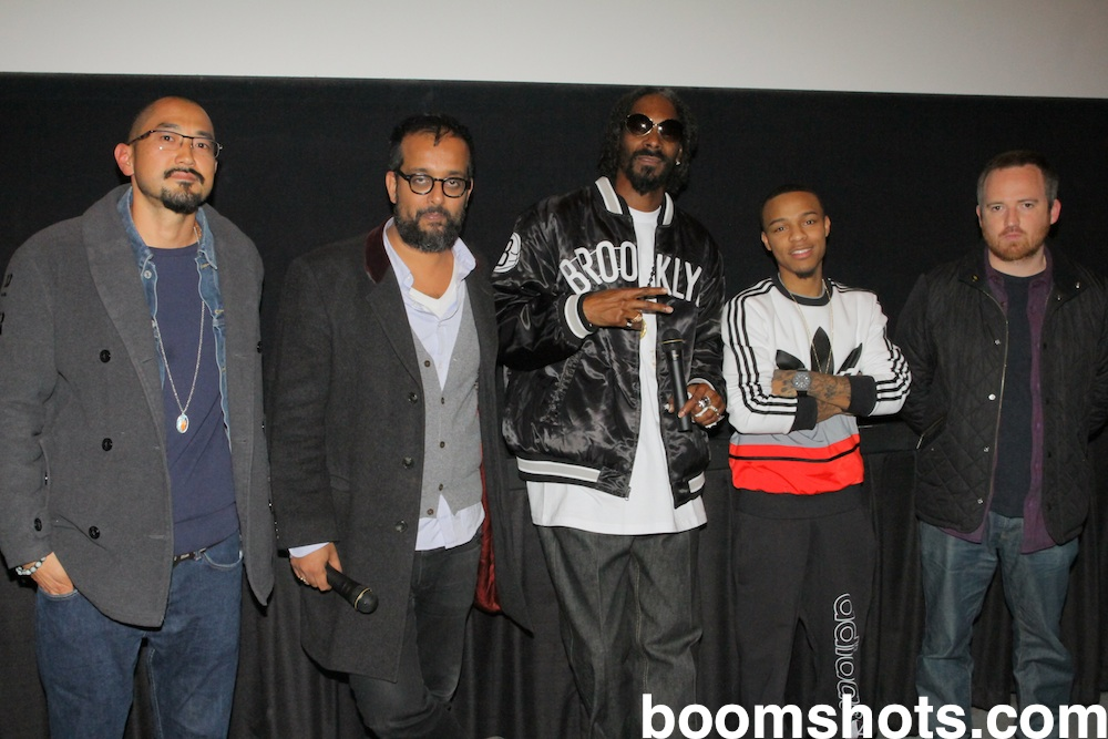 Ted Chung of Stampede Mgmt, Suroosh Alvi of VICE, Snoop, Bow Wow, and Director Andy Capper