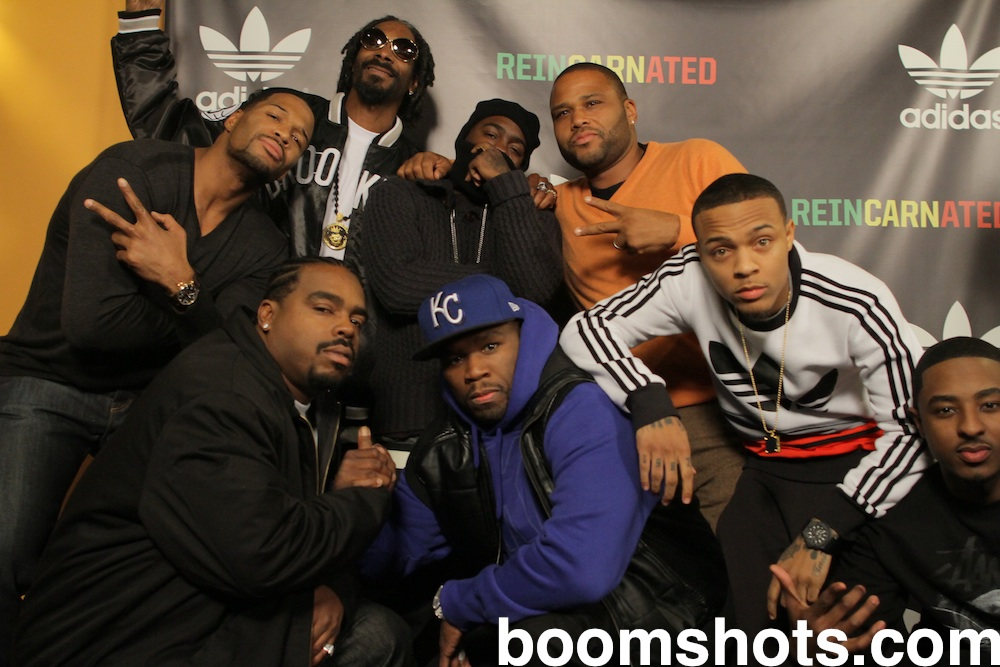 Snoop, Anthony Anderson, 50 Cent, Michael Strahan, Bow Wow, Daz & Friends
