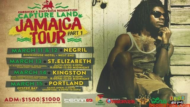 """Chronixx """"Capture Land"""" Tour Reaches Kingston"""